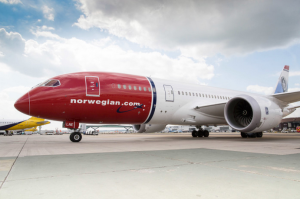 A Norwegian Air Shuttle Dreamliner
