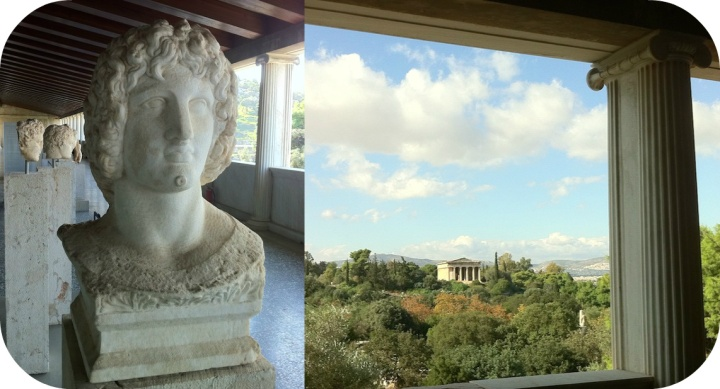 Museum of the Stoa of Attalos, with a view over the Agora (right). Photo AG