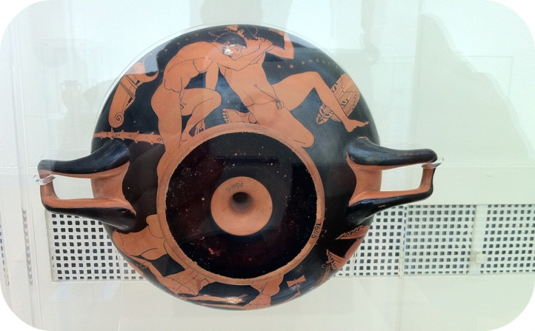 A red-figure drinking cup, about 500 B.C. Photo AG