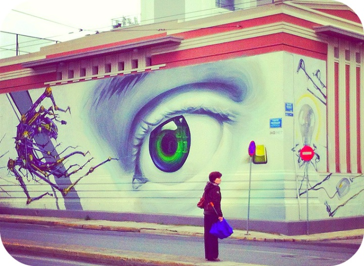 Some eye-catching street art in Athens